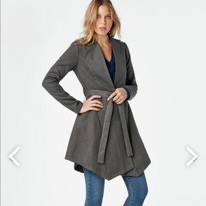 JustFab gray Asymmetrical Hem Coat
